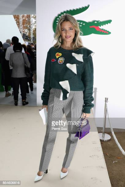 Helena Bordon attends the Lacoste show as part of the Paris Fashion Week Womenswear Spring/Summer 2018 on September 27 2017 in Paris France