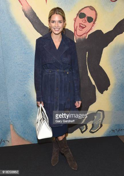 Helena Bordon attends the Michael Kors fashion show during New York Fashion Week at Vivian Beaumont Theatre on February 14 2018 in New York City