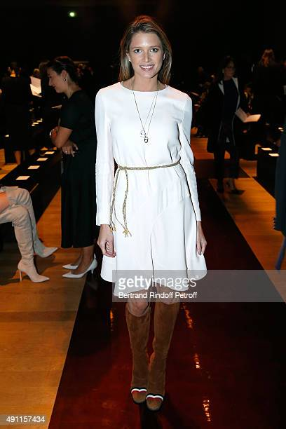 Helena Bordon attends the Nina Ricci show as part of the Paris Fashion Week Womenswear Spring/Summer 2016 Held at Grand Palais on October 3 2015 in...