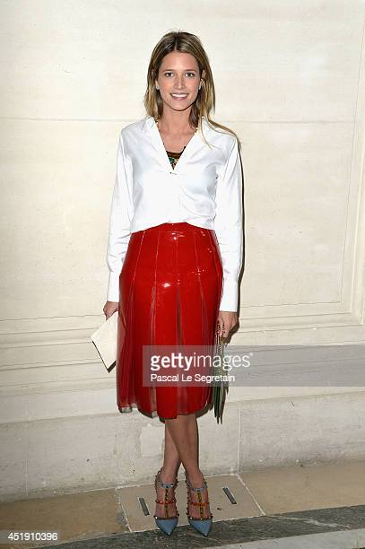 Helena Bordon attends the Valentino show as part of Paris Fashion Week Haute Couture Fall/Winter 20142015 at Hotel Salomon de Rothschild on July 9...