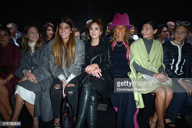 Helena Bordon Bianca Brandolini Alexia Niedzielski Anna Dello Russo Giovanna Battaglia and Arianna Fontana attend the Moncler Gamme Rouge show as...