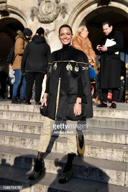 Helena Bordon is seen arriving at Schiaparelli show on January 21 2019 in Paris France