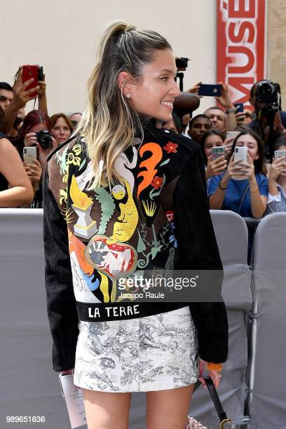 Helena Bordon is seen at the Christian Dior Haute Couture Fall Winter 2018/2019 Show on July 2 2018 in Paris France