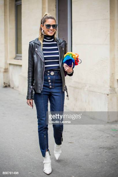 Helena Bordon is seen before the Giambattista Valli show during Paris Fashion Week Womenswear SS18 on October 2 2017 in Paris France