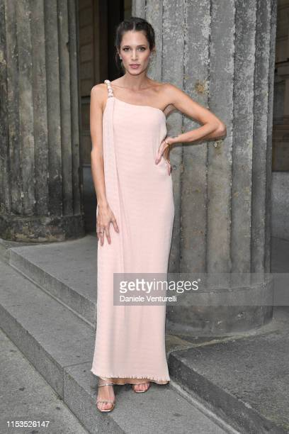 Helena Bordon wearing Max Mara attends the Max Mara Resort 2020 Fashion Show at Neues Museum on June 03 2019 in Berlin Germany