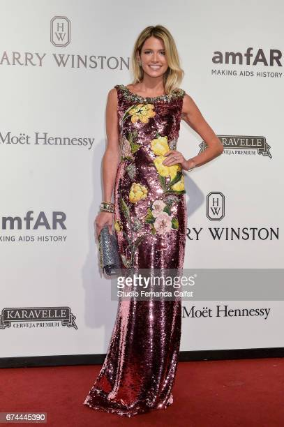 Helena Bourdon attends the 7th Annual amfAR Inspiration Gala on April 27 2017 in Sao Paulo Brazil