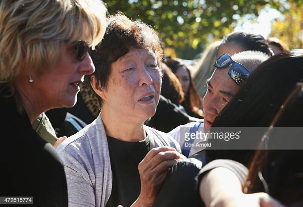 Helena Chan mother of Andrew Chan is weeps after the funeral service for executed Bali nine member Andrew Chan at Hillsong Church Baulkham Hills on...