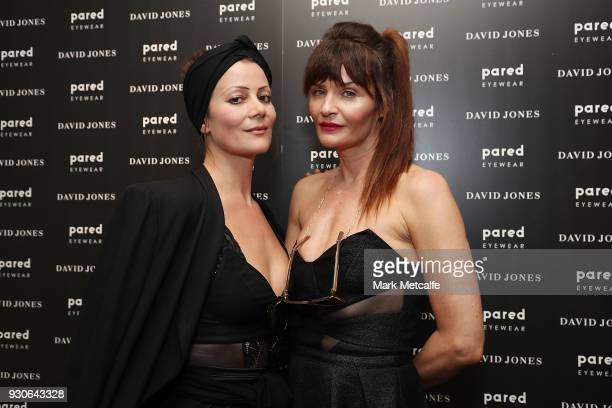 Helena Christensen and Camilla Staerk pose during a Q A at David Jones Elizabeth Street Store on March 10 2018 in Sydney Australia