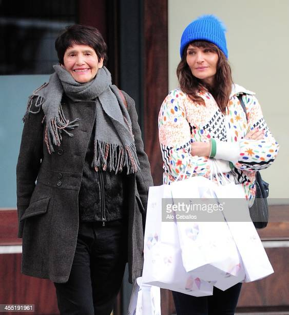 Helena Christensen and Elsa Christensen are seen in Tribeca on December 11 2013 in New York City