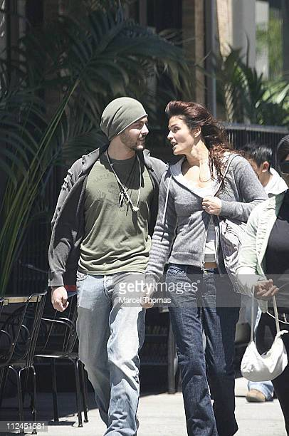 Helena Christensen and guest during Helena Christensen Sighting in New York City May 22 2006 at Meat Packing District in New York City New York...