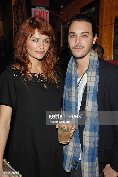 Helena Christensen and Jack Huston attend MAC Cosmetics and Interview Magazine hosts celebratory dinner for Rodarte Fall 2007 Collection at The Inn...