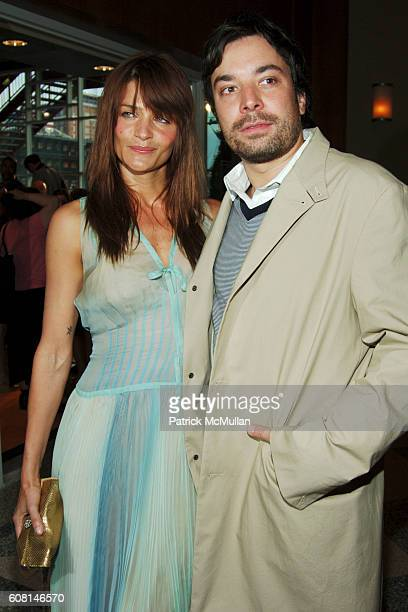 Helena Christensen and Jimmy Fallon attend FOOD BANK FOR NEW YORK CITY 2007 CanDo Awards Dinner at Pier 60 on April 23 2007 in New York City