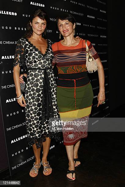Helena Christensen and mother during The Cinema Society and Hugo Bross Present the Premiere of 'Allegro' at Tribeca Grand/Soho Grand in New York New...