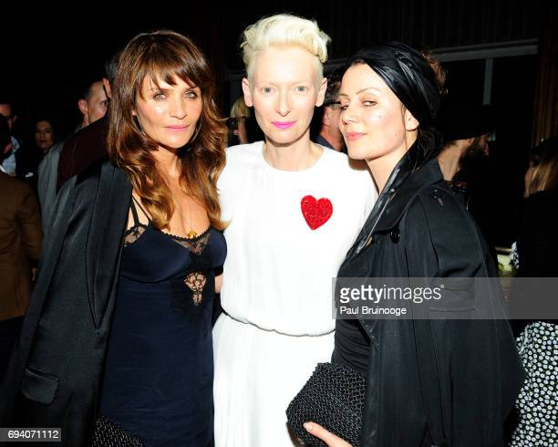 Helena Christensen and Tilda Swinton attend Netflix hosts the after party for 'Okja' at AMC Lincoln Square Theater on June 8 2017 in New York City