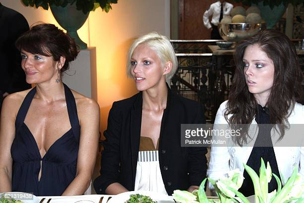 Helena Christensen Anja Rubik and Coco Rocha attend A DIAMOND IS FOREVER Host a Spring Lunch Honoring ANTONY TODD at Grand Central Station on May 6...