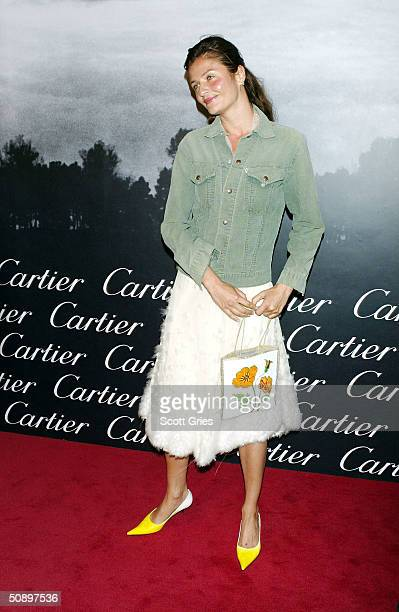 Helena Christensen arrives at Santos Night the 100 Year Anniversary of the Cartier Santos Watch at The Armory May 25 2004 in New York City