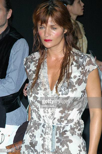 Helena Christensen arrives for the Marc Jacobs Spring 2007 fashion show during Olympus Fashion Week at the NY State Armory September 11 2006 in New...