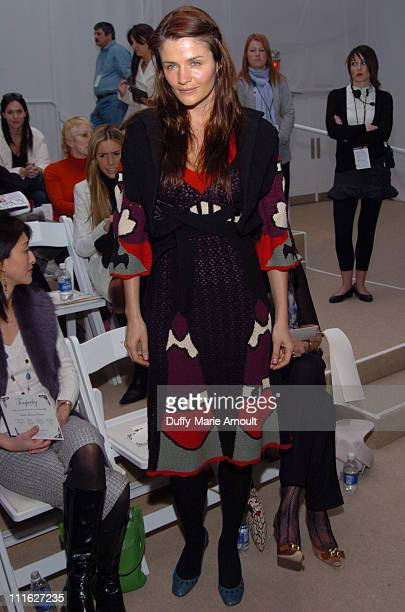 Helena Christensen at Temperley London Fall 2006 during Olympus Fashion Week Fall 2006 Temperley London Front Row and Backstage at The Promenade at...
