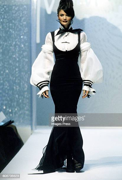 Helena Christensen at the Claude Montana Spring 1996 show circa 1995 in Paris France
