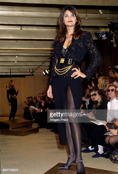 Helena Christensen at the Donna Karan Fall 1992 show circa 1992 in New York City