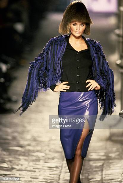 Helena Christensen at the Givenchy Fall 1997 show circa 1997 in Paris France