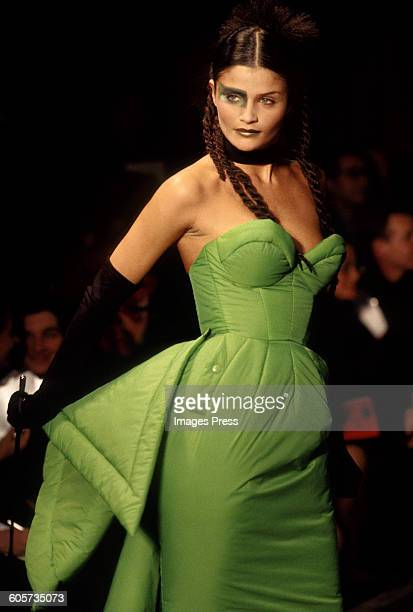 Helena Christensen at the Jean Paul Gaultier Fall 1995 show circa 1995 in Paris France