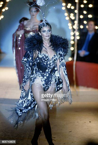 Helena Christensen at the John Galliano Spring 1997 show circa 1996 in Paris France