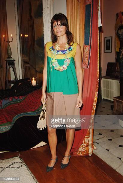 Helena Christensen at the Marni dinner for Consuelo Castiglioni