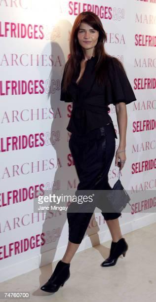 Helena Christensen at the Selfridges in London, United Kingdom.