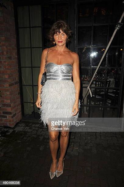 Helena Christensen attends 3rd Annual Turtle Ball at The Bowery Hotel on September 28 2015 in New York City