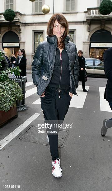 Helena Christensen attends a Reebok EasyTone event on December 3 2010 in Milan Italy