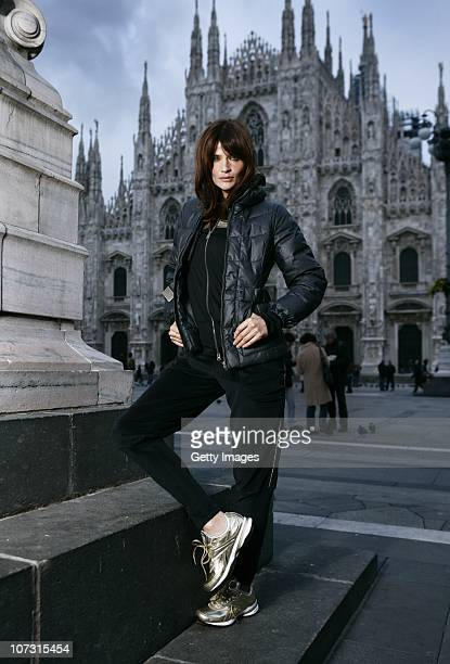 Helena Christensen attends a Reebok EasyTone event on December 3 2010 in Milan Italy