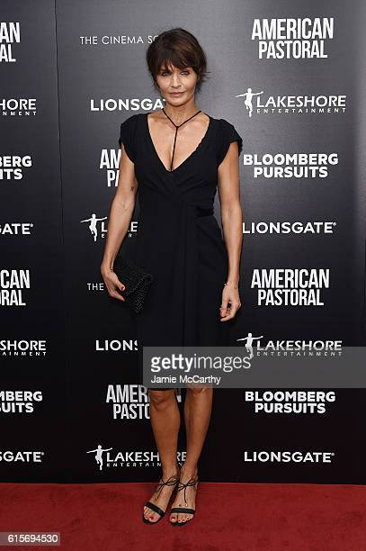 Helena Christensen attends a screening of American Pastoral hosted by Lionsgate Lakeshore Entertainment and Bloomberg Pursuits at Museum of Modern...
