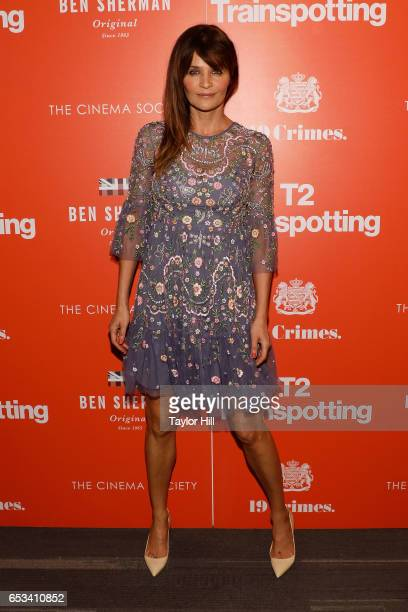 Helena Christensen attends a TriStar and Cinema Society screening of 'T2 Trainspotting' at Landmark Sunshine Cinema on March 14 2017 in New York City
