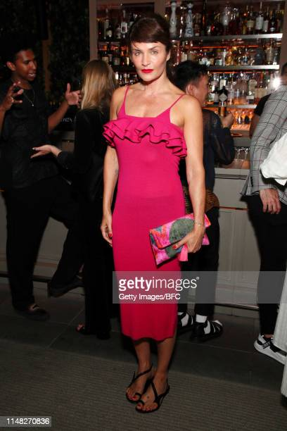 Helena Christensen attends an event hosted by the British Fashion Council celebrating British Creative Talent at The Times Square EDITION on June 5,...