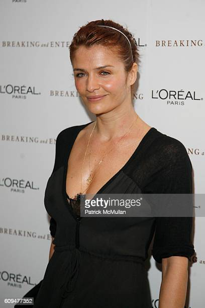 Helena Christensen attends BREAKING and ENTERING Premiere Screening Arrivals at Hudson Bar on January 18 2007 in New York City