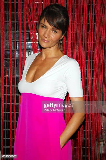 Helena Christensen attends CALVIN KLEIN COLLECTION Private Dinner hosted by JULIANNE MOORE and KATE BOSWORTH at Wakiya on September 11 2007 in New...