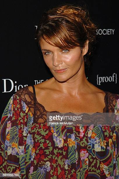 Helena Christensen attends DIOR THE CINEMA SOCIETY present a screening of Hart Sharp Entertainment Miramax Films' Proof at 165 Charles St on...