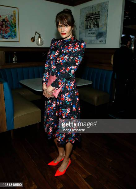 """Helena Christensen attends """"Serendipity"""" New York Screening after party at Society Cafe, at Walker Hotel Greenwich Village on October 15, 2019 in New..."""