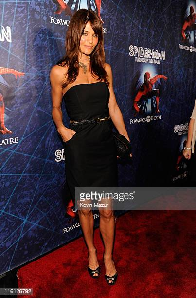 Helena Christensen attends 'SpiderMan Turn Off The Dark' Broadway opening night at Foxwoods Theatre on June 14 2011 in New York City