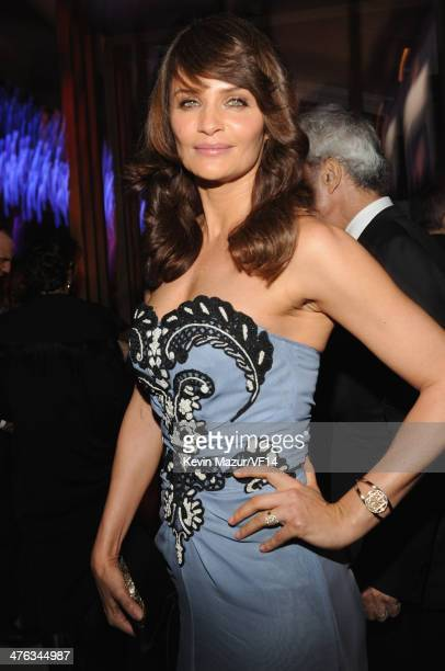Helena Christensen attends the 2014 Vanity Fair Oscar Party Hosted By Graydon Carter on March 2 2014 in West Hollywood California