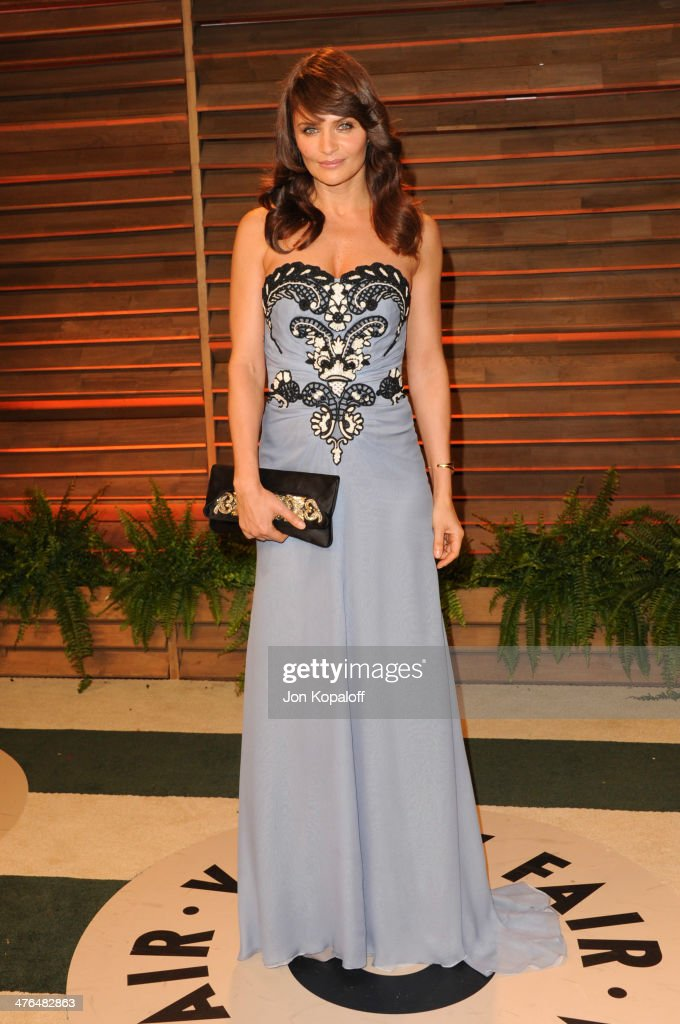 Helena Christensen attends the 2014 Vanity Fair Oscar Party hosted by Graydon Carter on March 2, 2014 in West Hollywood, California.