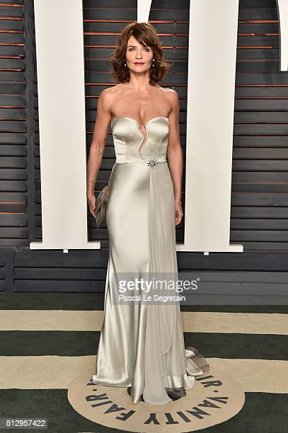 Helena Christensen attends the 2016 Vanity Fair Oscar Party Hosted By Graydon Carter at the Wallis Annenberg Center for the Performing Arts on...