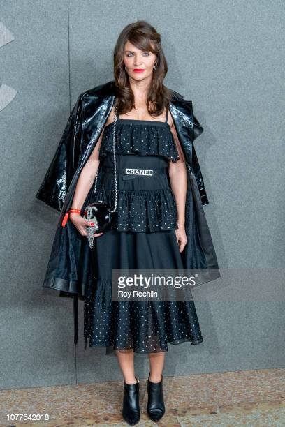 Helena Christensen attends the Chanel Metiers D'Art 2018/19 Show at The Metropolitan Museum of Art on December 04, 2018 in New York City.