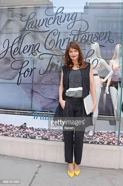 Helena Christensen attends the launch of Helena Christensen for Triumph at Fenwicks Bond Street on February 13 2014 in London England
