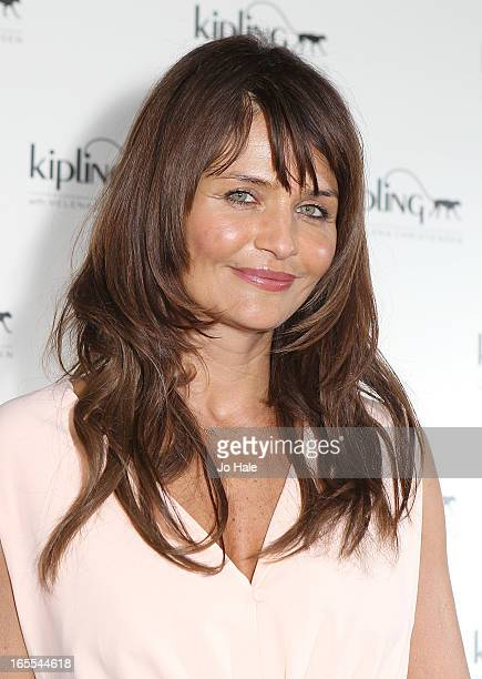 Helena Christensen attends the launch of new hangbag collection 'Kipling x Helena Christensen' at Beach Blanket Babylon on April 4 2013 in London...