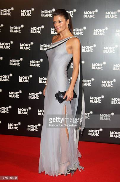 Helena Christensen attends the Montblanc VIP Charity Gala held at the Monte Carlo Sporting Club on November 14 2007 in Monte Carlo Monaco The...