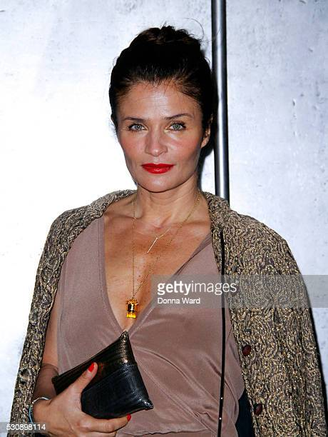 Helena Christensen attends the National Sawdust's Spring 2016 Gala at Weylin B Seymour's on May 11 2016 in the Brooklyn borough of New York City