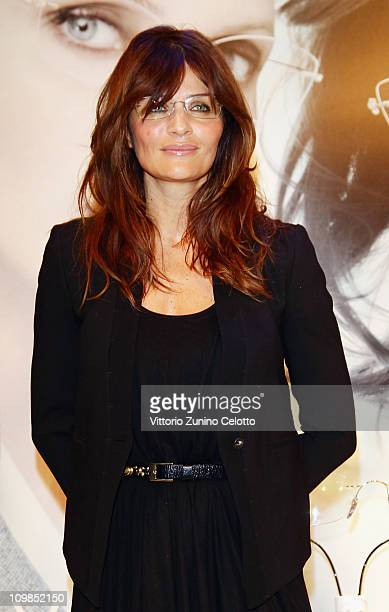 Helena Christensen attends the Silhouette Crystal Collection Launch on March 4, 2011 in Milan, Italy.