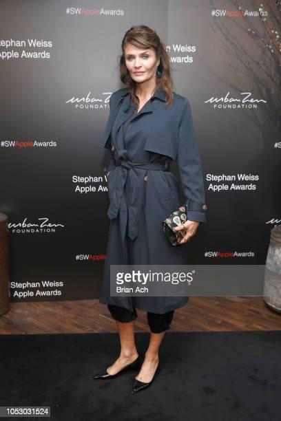 Helena Christensen attends the Stephan Weiss Apple Awards at Urban Zen on October 24 2018 in New York City